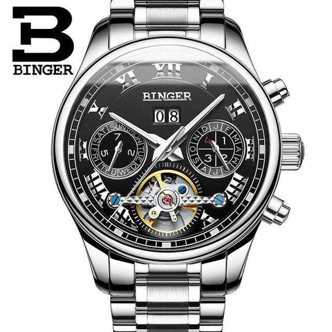 2017 Luxury Mechanical Watch Tourbillon Designer Watches Top Quality Business Watch with Date Day Full Steel Watch for Men, 02, www.suppashoppa.co.uk
