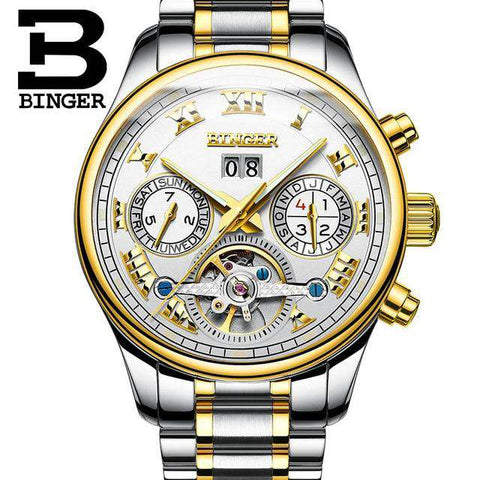2017 Luxury Mechanical Watch Tourbillon Designer Watches Top Quality Business Watch with Date Day Full Steel Watch for Men, 04, www.suppashoppa.co.uk