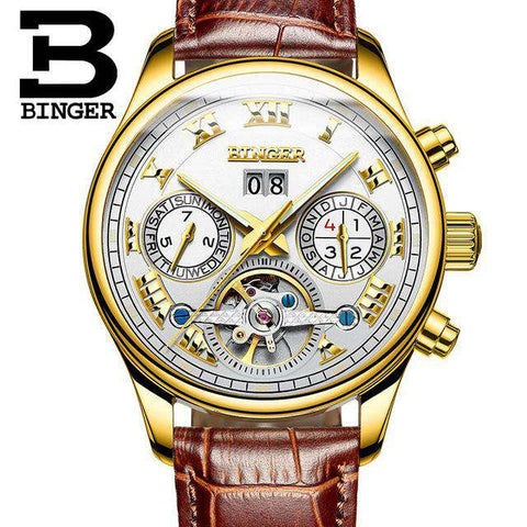 2017 Luxury Mechanical Watch Tourbillon Designer Watches Top Quality Business Watch with Date Day Full Steel Watch for Men, 10, www.suppashoppa.co.uk