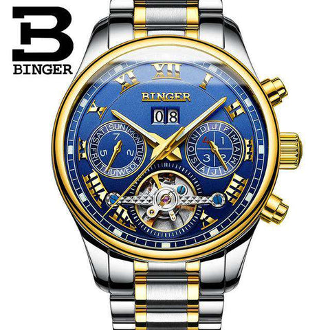 2017 Luxury Mechanical Watch Tourbillon Designer Watches Top Quality Business Watch with Date Day Full Steel Watch for Men, 07, www.suppashoppa.co.uk