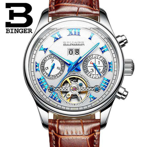 2017 Luxury Mechanical Watch Tourbillon Designer Watches Top Quality Business Watch with Date Day Full Steel Watch for Men, 09, www.suppashoppa.co.uk