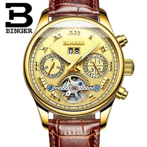 2017 Luxury Mechanical Watch Tourbillon Designer Watches Top Quality Business Watch with Date Day Full Steel Watch for Men, 11, www.suppashoppa.co.uk