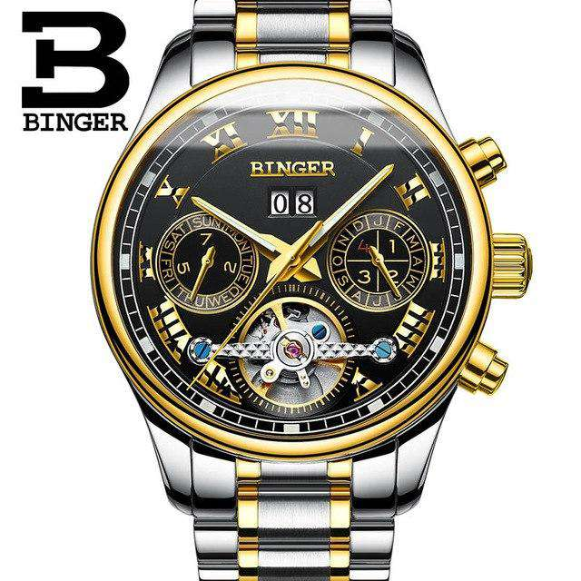 2017 Luxury Mechanical Watch Tourbillon Designer Watches Top Quality Business Watch with Date Day Full Steel Watch for Men, 05, www.suppashoppa.co.uk