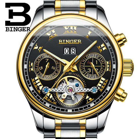 2017 Luxury Mechanical Watch Tourbillon Designer Watches Top Quality Business Watch with Date Day Full Steel Watch for Men, , www.suppashoppa.co.uk