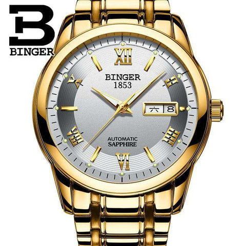 2017 Men's BINGER Brand Luxury Automatic Watch men Fashion Casual 30M Date Clcok Business Wrist watches Full Steel reloj hombre, 08, www.suppashoppa.co.uk