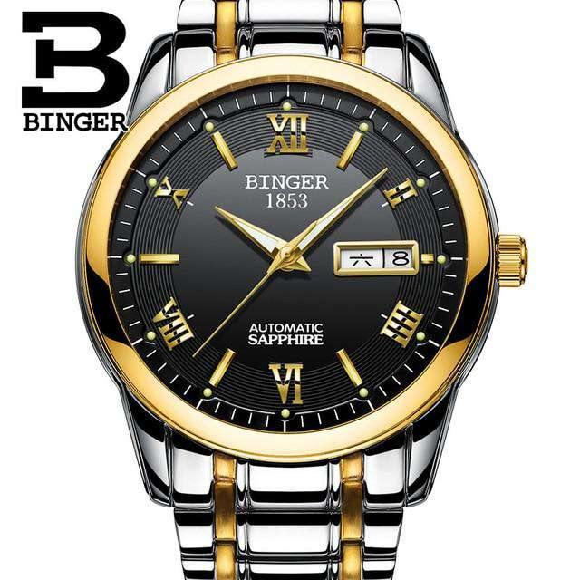2017 Men's BINGER Brand Luxury Automatic Watch men Fashion Casual 30M Date Clcok Business Wrist watches Full Steel reloj hombre, 05, www.suppashoppa.co.uk