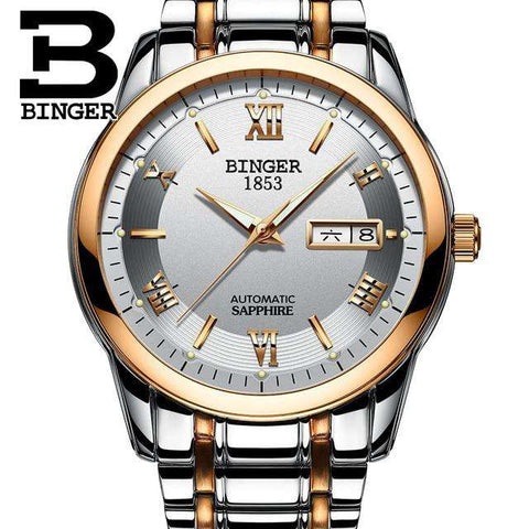 2017 Men's BINGER Brand Luxury Automatic Watch men Fashion Casual 30M Date Clcok Business Wrist watches Full Steel reloj hombre, 06, www.suppashoppa.co.uk