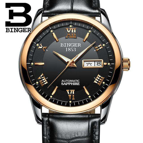 2017 Men's BINGER Brand Luxury Automatic Watch men Fashion Casual 30M Date Clcok Business Wrist watches Full Steel reloj hombre, 16, www.suppashoppa.co.uk