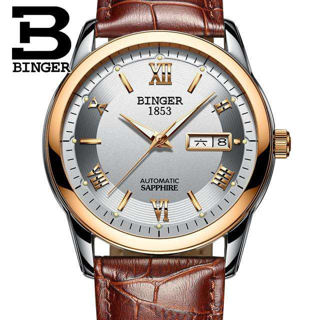 2017 Men's BINGER Brand Luxury Automatic Watch men Fashion Casual 30M Date Clcok Business Wrist watches Full Steel reloj hombre, 17, www.suppashoppa.co.uk