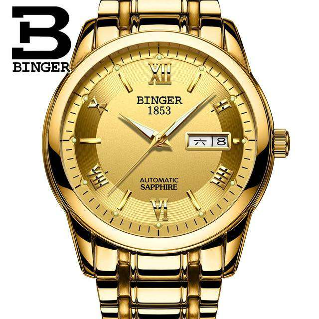 2017 Men's BINGER Brand Luxury Automatic Watch men Fashion Casual 30M Date Clcok Business Wrist watches Full Steel reloj hombre, 10, www.suppashoppa.co.uk