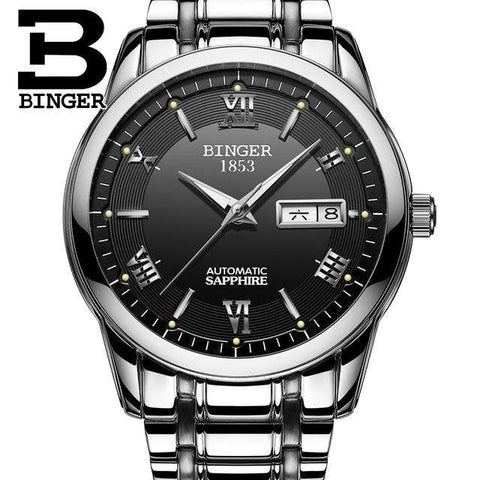 2017 Men's BINGER Brand Luxury Automatic Watch men Fashion Casual 30M Date Clcok Business Wrist watches Full Steel reloj hombre, 03, www.suppashoppa.co.uk