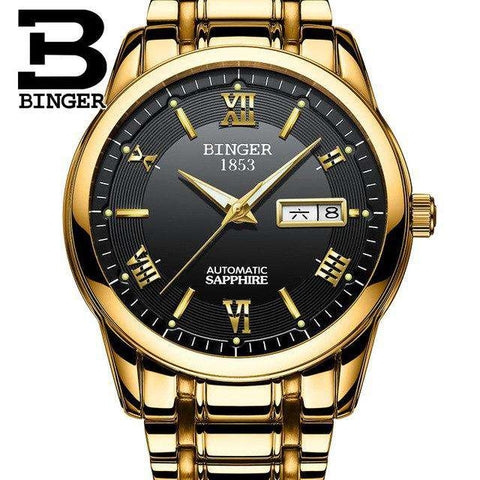 2017 Men's BINGER Brand Luxury Automatic Watch men Fashion Casual 30M Date Clcok Business Wrist watches Full Steel reloj hombre, 09, www.suppashoppa.co.uk