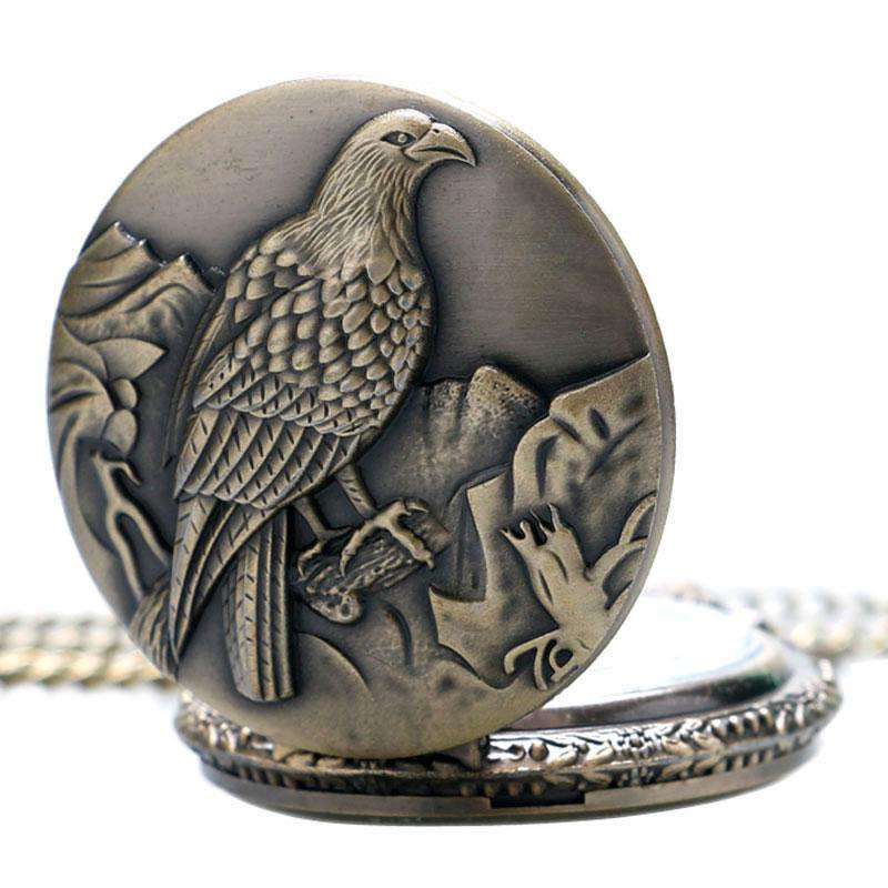 2017 New Antique Big Size Eagle Pocket Watch Retro Bronze Watches Necklace Pendant Gift P453, , www.suppashoppa.co.uk