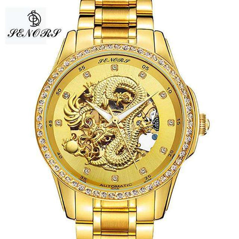2017 New Automatic Watches Men Luxury Business Watch 3D Carving Dragon Gold Skeleton Watch Male Diamond Night vision, 03, www.suppashoppa.co.uk