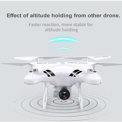 2018 RC Drone Wifi FPV HD Adjustable Camera 0.3MP/5MP 480P/1080P Altitude Hold One Key Return Headless Quadcopter, 0.3MP Black, www.suppashoppa.co.uk