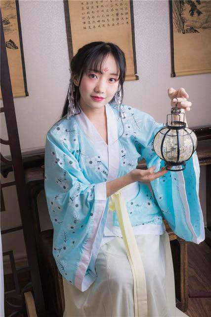 2018 autumn ancient chinese costume men traditional chinese dance clothing for women long sleeve hanfu satin robe dress boy qing