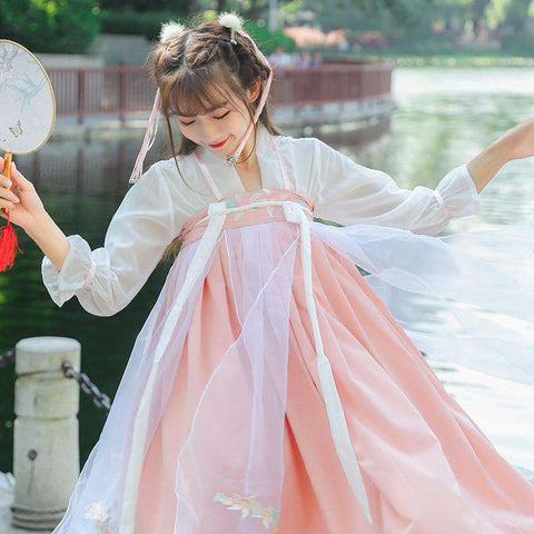 2018 autumn chinese ancient costume dress cosplay costume chinese traditional costume ancient tang dynasty hanfu women's hanfu