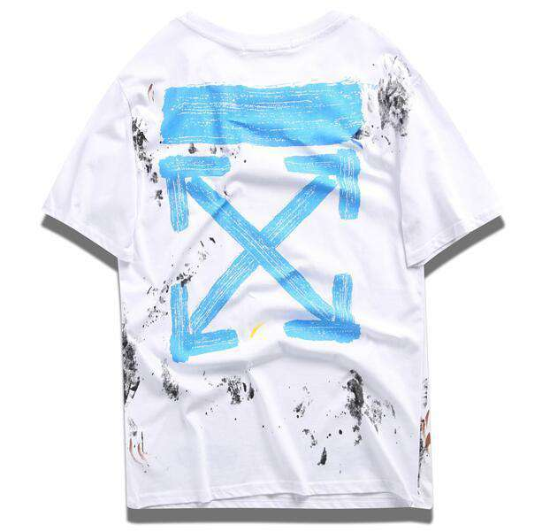 NEW ARRIVAL OFF Designer WHITE Shirt Lovers Wear High Quality Mens Brand Fashion Luxury Shirts Men and Women T Shirt 2XL