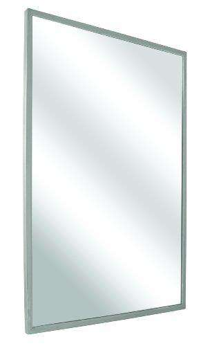 Bradley 781-018300 Roll-Formed Channel Frame Float Glass Mirror, 18 Width x 30 Height