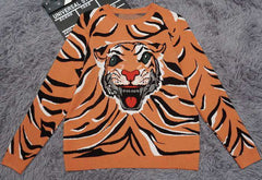 Wool Sweater Men Winter Warm Wear Pullover Man Printed Tiger Men Cashmere Knit Jumper Tops Men's