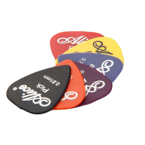 100pcs guitar picks 1 box case Alice acoustic electric guitar accessories musical instrument thickness 0.58-0.81mm free shipping