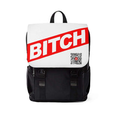 * BITCH W/B Unisex Casual Shoulder Backpack