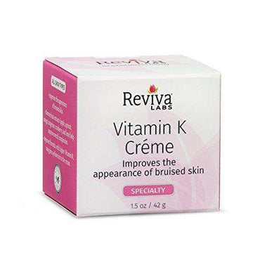 Reviva Labs Vitamin K Cream, For All Skin Types, 1.5-Ounce