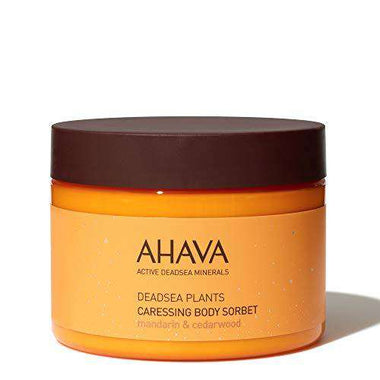AHAVA Caressing Body Sorbet Mandarin & Cedarwood 350 ml Dead Sea Minerals Natural Butter Cream to Moisturize and Protect Skin – Lotion is Suitable for All Skin Types Nourishing Daily Treatment