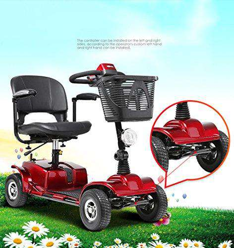 Four-wheeled Intelligent Wheelchair Electric Folding Fully Automatic for Elderly/Disabled