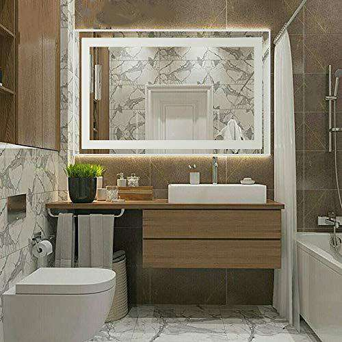 "Mimirrors Bathroom Mirrors with Led Lights Fog Free Wall Mirror Backlit Vanity Mirror with Touch Button 36"" x 30"" in"