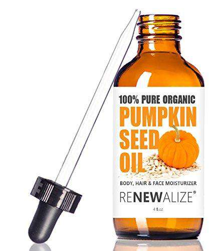 ORGANIC PUMPKIN SEED OIL MOISTURIZER - grown in USA - 100 ml Dark Glass Bottle with glass pipette | Best Quality, 100% Pure Unrefined, Cold Pressed hydrating oils for healthy hair, skin and nails | All Natural Nail and Hair Growth Treatment | carrier oil