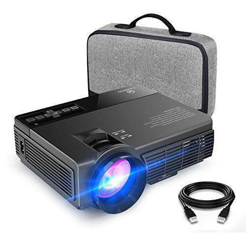 "VANKYO LEISURE 3 Projector 2400 Lumen Mini Projector, Video Projector, 170"" Display, 1080P Supported, Compatible with Fire TV Stick, Phone, HDMI, VGA, USB, AV, TF Device"