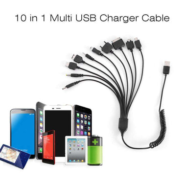 10 in 1 Universal Portable USB Charging Cable Compatible with Most Brands Phones