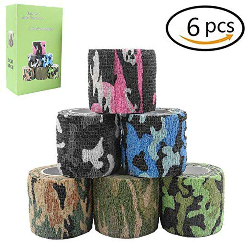6Pcs Disposable Cohesive Tattoo Grip Cover Self-Adhesive Bandages Handle Grip Tube for Tattoo Machine Grip Accessories