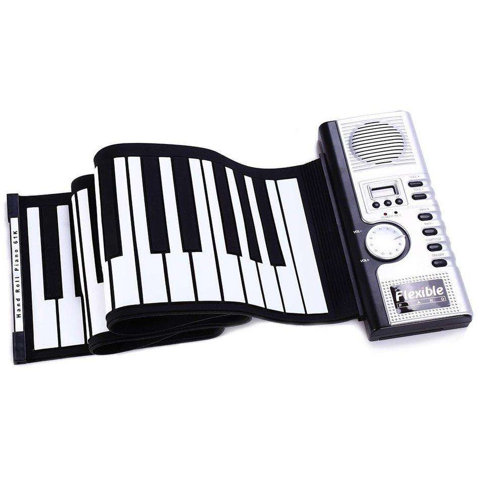 2016 Hot Sale Portable Flexible 61 Keys Silicone MIDI Digital Soft Keyboard Piano Flexible Electronic Roll Up Piano