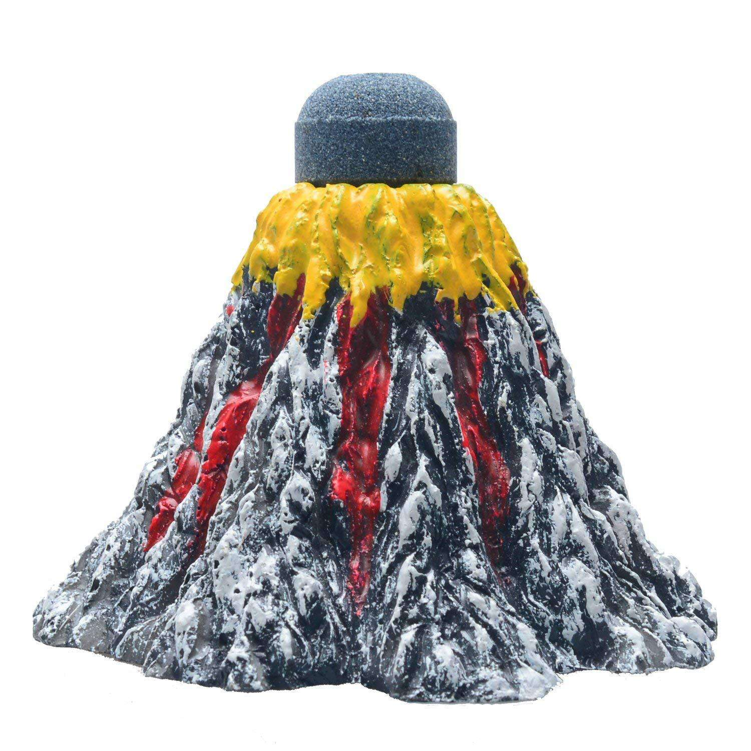 Uniclife Aquarium Volcano Ornament Kit with Air Stone Bubbler Fish Tank Decorations