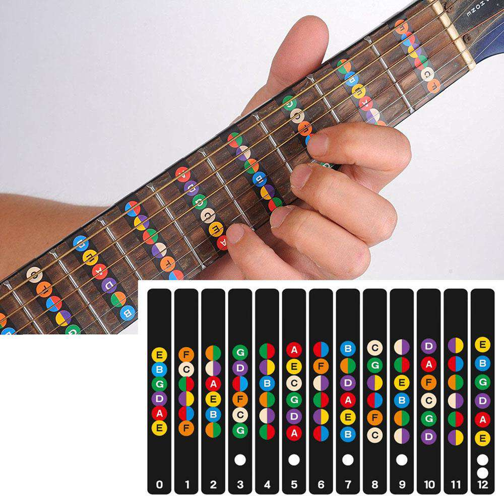 Guitar Fretboard Notes Map Labels Sticker Fingerboard Fret Decals for 6 String Acoustic Electric Guitarra, , www.suppashoppa.co.uk