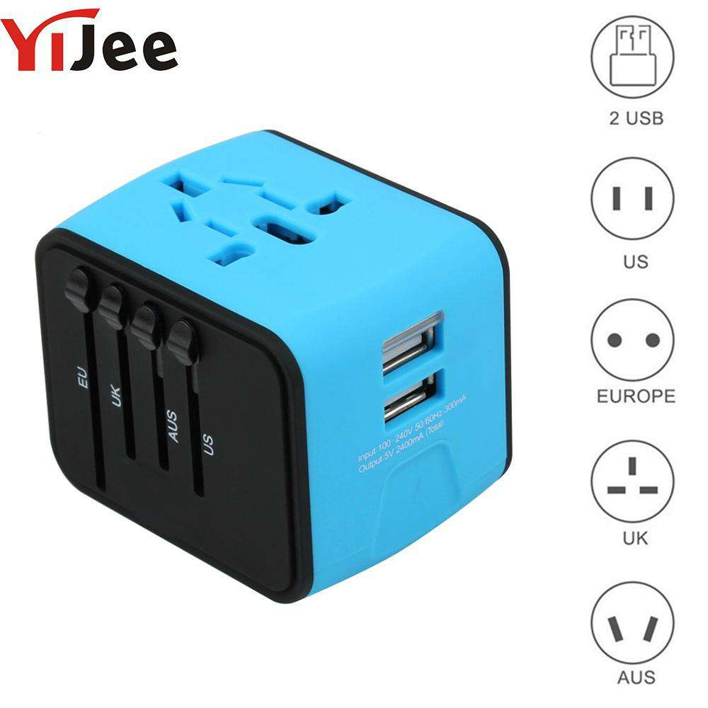 Travel Adapter International Universal Power Charger US UK EU Plug
