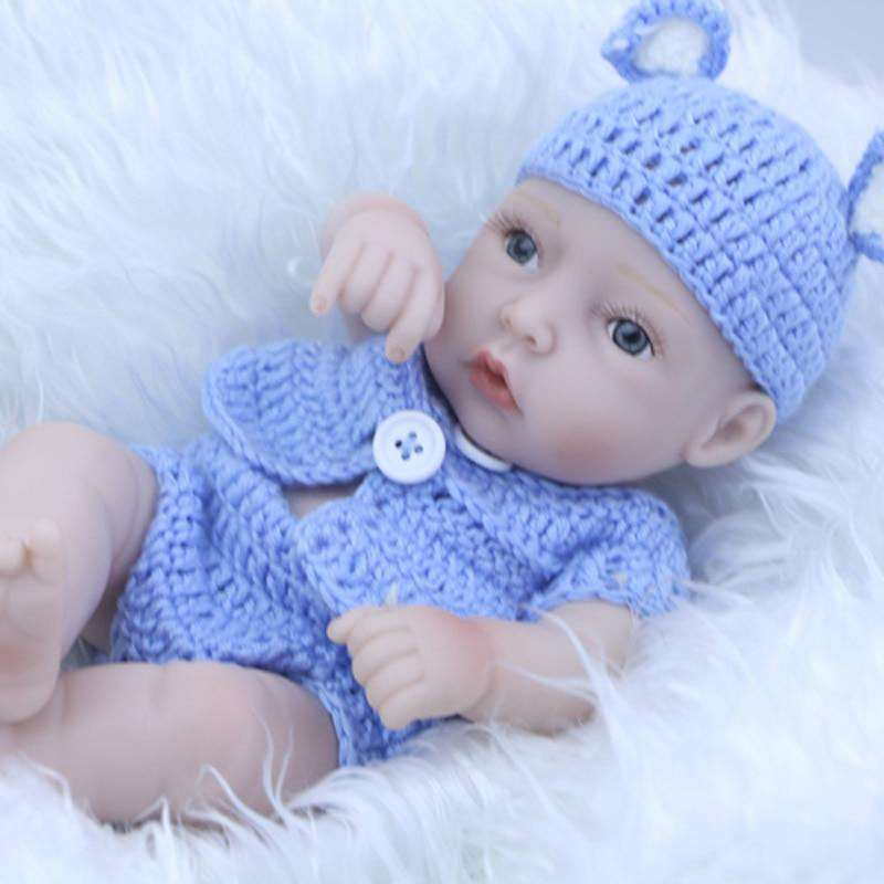 Collectible Reborn Baby Mini Doll 17 Inch Silicone Vinyl Full Body Lifelike Newborn Babies Boy With Clothes Kids Birthday Gift, as picture / 11 inch 27 cm, www.suppashoppa.co.uk