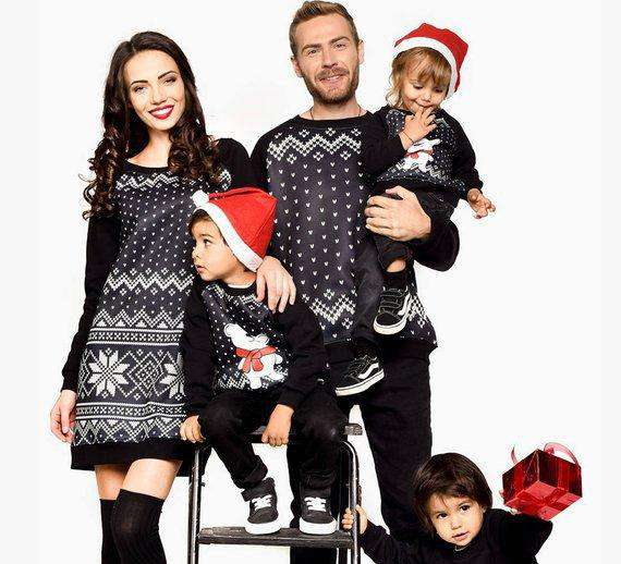 Family Matching Outfits 2018 Winter Christmas