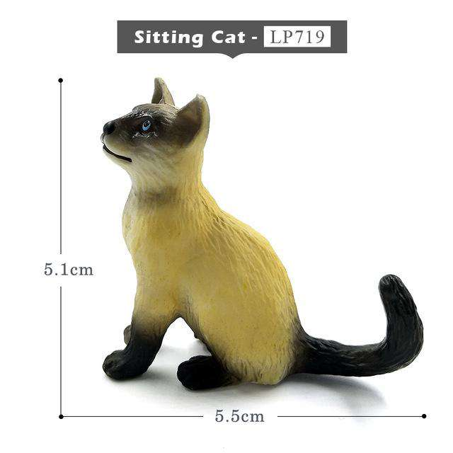 Farm Simulation Cat mini animal model small plastic figure home decor figurine decoration accessories modern Gift For Kids toys, Sitting Cat, www.suppashoppa.co.uk
