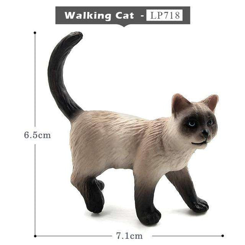 Farm Simulation Cat mini animal model small plastic figure home decor figurine decoration accessories modern Gift For Kids toys, Walking Cat, www.suppashoppa.co.uk
