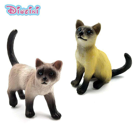 Farm Simulation Cat mini animal model small plastic figure home decor figurine decoration accessories modern Gift For Kids toys, , www.suppashoppa.co.uk