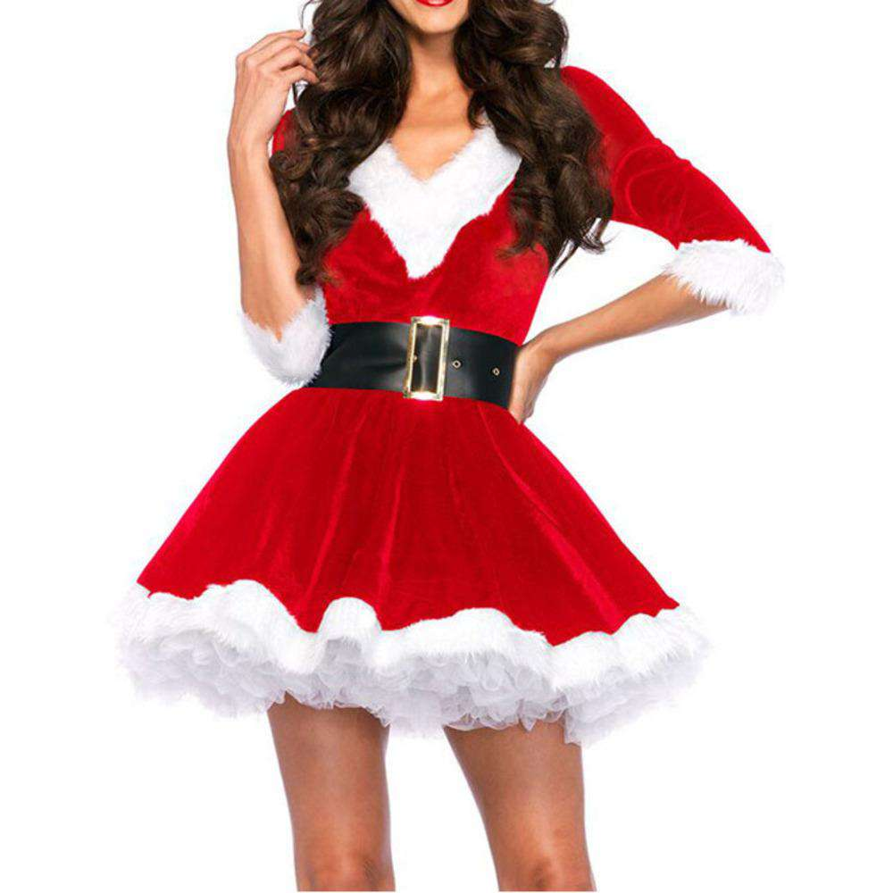 Fashion Christmas Dresses Women Clothes Sexy
