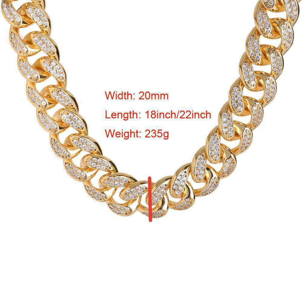 Hip Hop MCSAYS Iced Out Quavo Choker Chain Micro Pave Zircon Bling Bling 18 22 Chain Necklace Jewelry for Rappers