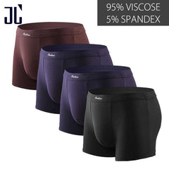 Soft Underwear Men Boxer Shorts 4Pcs\lot Plus Size