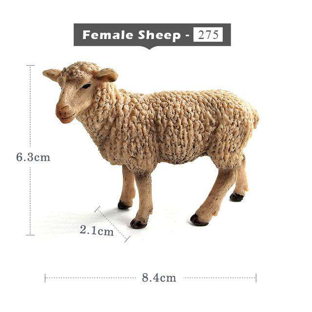 Kawaii Simulation Sheep Lovely Farm animal model Goat Figure plastic toy figurine home decoration accessories Decor Gift For Kid, Female Sheep, www.suppashoppa.co.uk