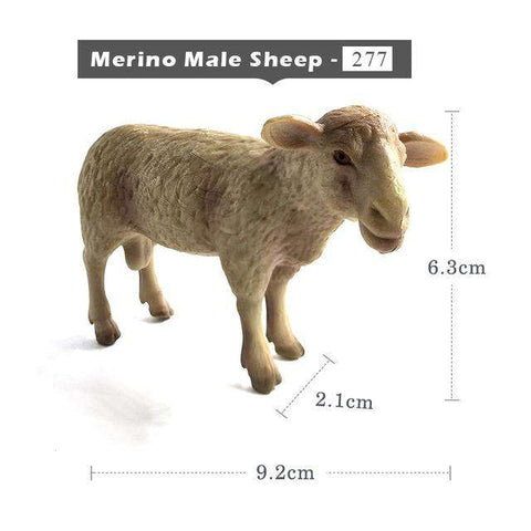 Kawaii Simulation Sheep Lovely Farm animal model Goat Figure plastic toy figurine home decoration accessories Decor Gift For Kid, Merino Male Sheep, www.suppashoppa.co.uk
