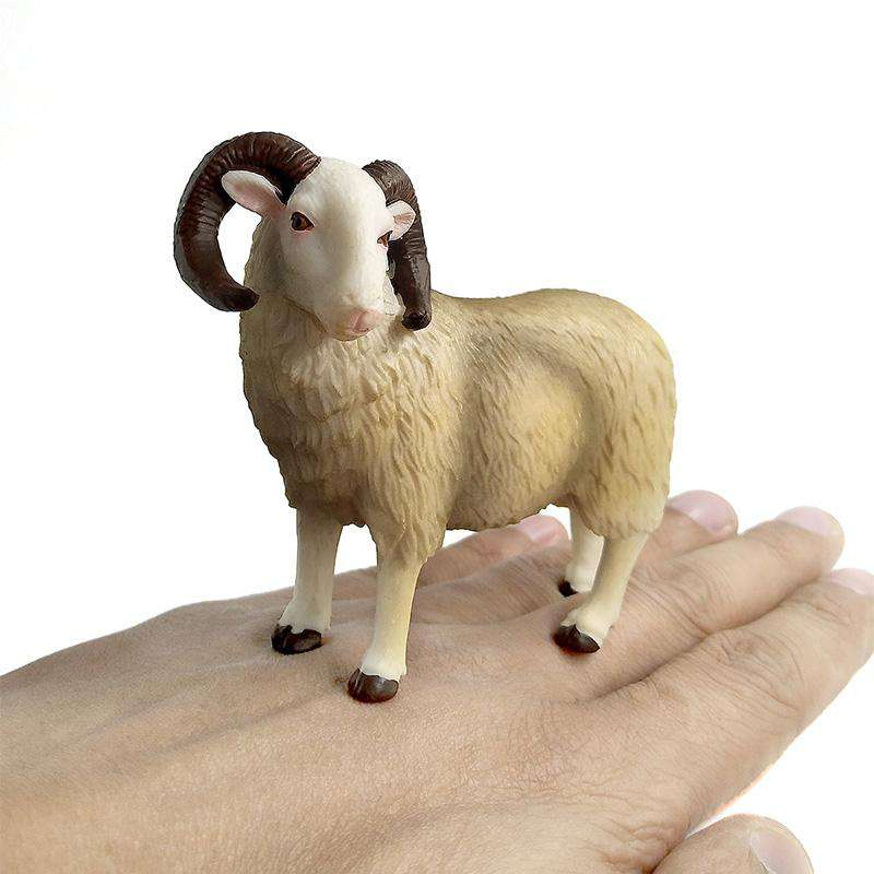 Kawaii Simulation Sheep Lovely Farm animal model Goat Figure plastic toy figurine home decoration accessories Decor Gift For Kid, , www.suppashoppa.co.uk