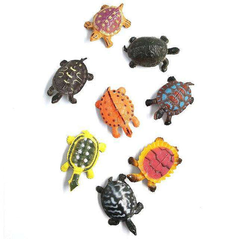 Kawaii Simulation animals statue Sea Turtle Crab model Figurine fairy garden terrarium home decor craft bonsai bottle PVC toys, 8 pcs Turtle, www.suppashoppa.co.uk
